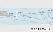Gray Panoramic Map of Milne Bay, single color outside