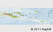 Physical Panoramic Map of Milne Bay, lighten