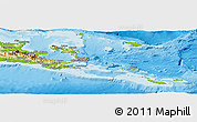 Physical Panoramic Map of Milne Bay