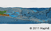 Political Panoramic Map of Milne Bay, darken