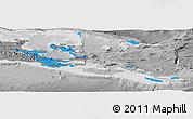 Political Panoramic Map of Milne Bay, desaturated