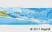 Political Panoramic Map of Milne Bay, physical outside