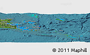 Political Panoramic Map of Milne Bay, satellite outside