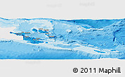 Political Panoramic Map of Milne Bay, single color outside