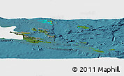 Satellite Panoramic Map of Milne Bay, single color outside