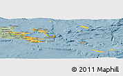 Savanna Style Panoramic Map of Milne Bay