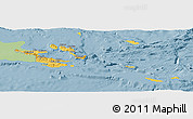 Savanna Style Panoramic Map of Milne Bay, single color outside