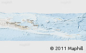 Shaded Relief Panoramic Map of Milne Bay, lighten