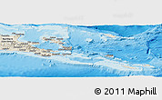 Shaded Relief Panoramic Map of Milne Bay