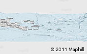 Silver Style Panoramic Map of Milne Bay