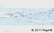 Silver Style Panoramic Map of Milne Bay, single color outside
