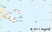 Classic Style Simple Map of Milne Bay