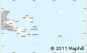 Gray Simple Map of Milne Bay