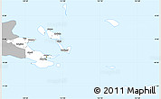 Gray Simple Map of Milne Bay, single color outside