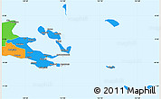 Political Simple Map of Milne Bay