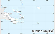 Silver Style Simple Map of Milne Bay