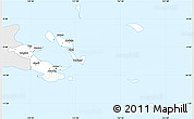 Silver Style Simple Map of Milne Bay, single color outside