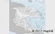 Gray 3D Map of Morobe, single color outside