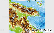 Physical 3D Map of Morobe
