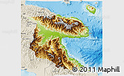 Physical 3D Map of Morobe, shaded relief outside