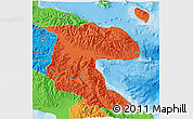 Political 3D Map of Morobe