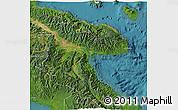 Satellite 3D Map of Morobe
