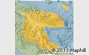 Savanna Style 3D Map of Morobe
