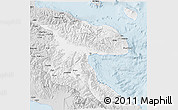 Silver Style 3D Map of Morobe
