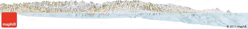 Classic Style Horizon Map of Morobe