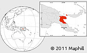 Blank Location Map of Morobe, highlighted country