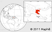 Blank Location Map of Morobe