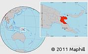 Gray Location Map of Morobe