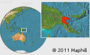Satellite Location Map of Morobe