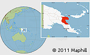 Savanna Style Location Map of Morobe, highlighted country