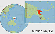 Savanna Style Location Map of Morobe