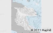 Gray Map of Morobe, single color outside