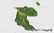 Satellite Map of Morobe, cropped outside