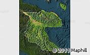 Satellite Map of Morobe, darken