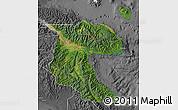 Satellite Map of Morobe, desaturated