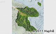 Satellite Map of Morobe, lighten