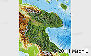 Satellite Map of Morobe, physical outside