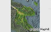 Satellite Map of Morobe, semi-desaturated