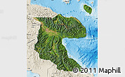 Satellite Map of Morobe, shaded relief outside