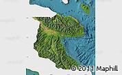 Satellite Map of Morobe, single color outside