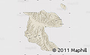 Shaded Relief Map of Morobe, cropped outside
