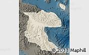 Shaded Relief Map of Morobe, darken