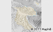 Shaded Relief Map of Morobe, desaturated