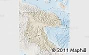 Shaded Relief Map of Morobe, lighten