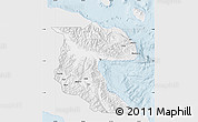 Silver Style Map of Morobe, single color outside