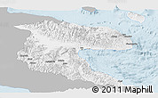 Gray Panoramic Map of Morobe, single color outside
